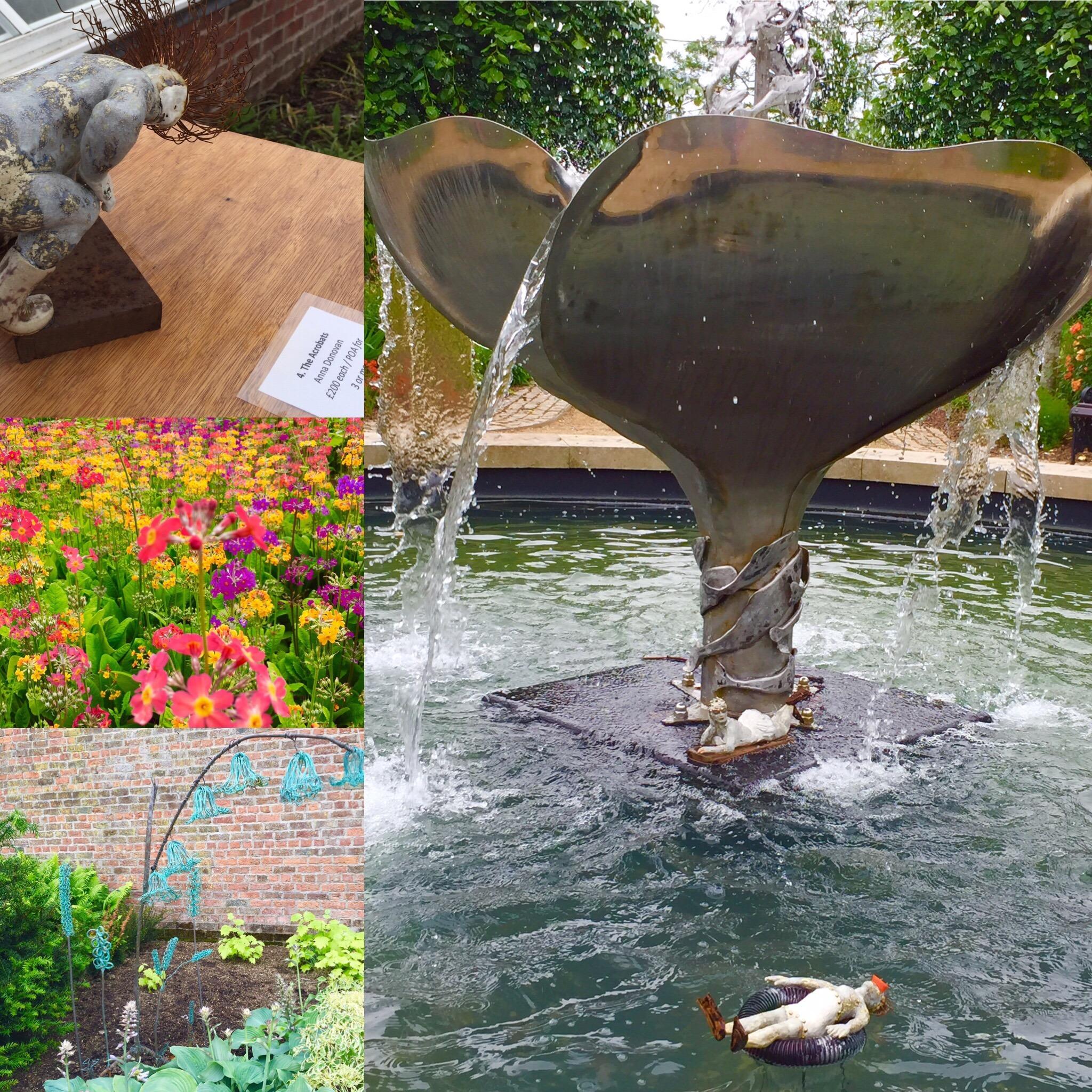 Bangor, Walled Garden, Sculpture Exhibition, Flowers, Beauty