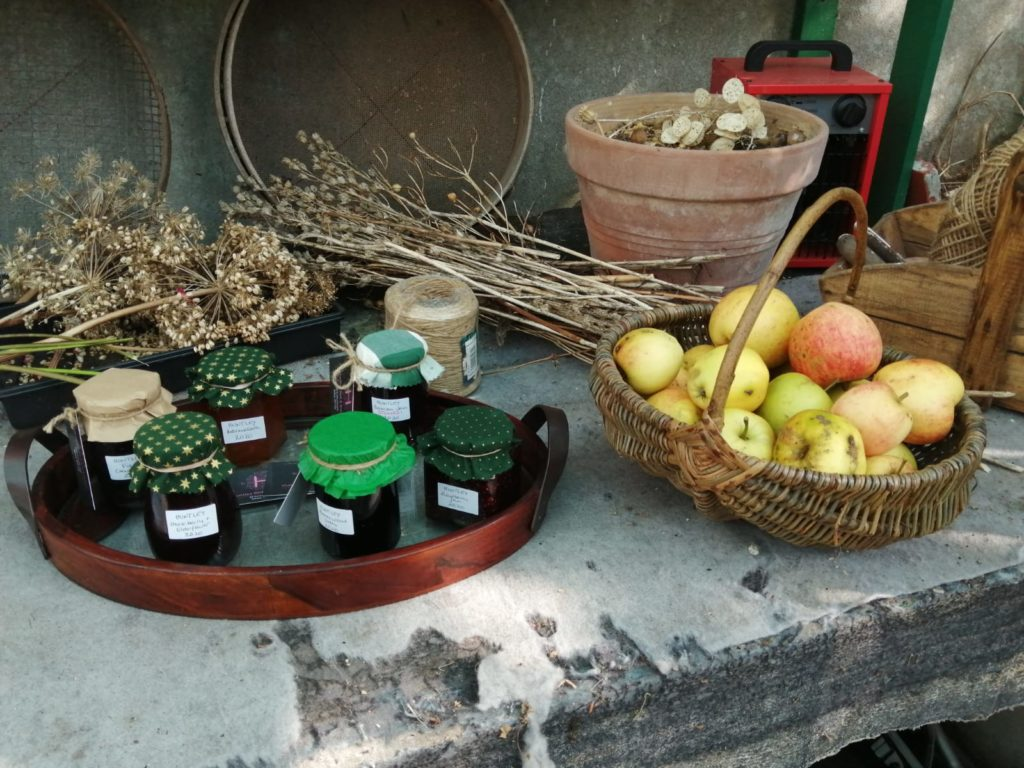 Jams and Apples in the Greenhouse